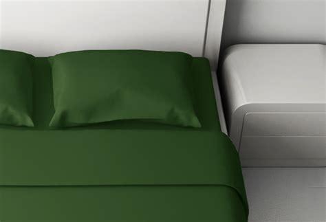 lenzuola su misura verde scuro consegna gratuita materassicom