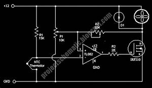 Free Project Circuit Schematic  Fan Control Circuit Using Ntc And Tl082
