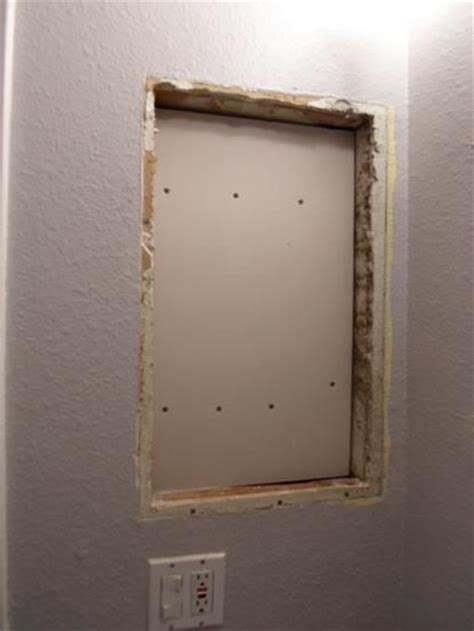 replace medicine cabinet  open shelves home