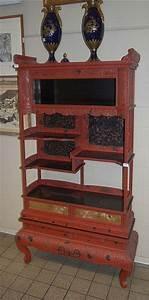 Meuble Chinois Rouge : meuble tag re chinois sculpt et laqu rouge ~ Teatrodelosmanantiales.com Idées de Décoration