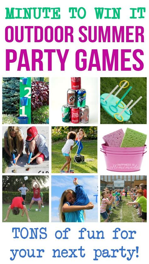 minute  win  outdoor summer party games  fun