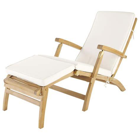 matelas pour chaise longue matelas chaise longue écru l 185 cm olé maisons du monde