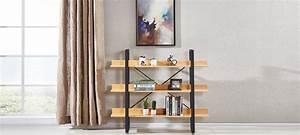 Etagere Style Industriel : etag res bois m tal ~ Nature-et-papiers.com Idées de Décoration