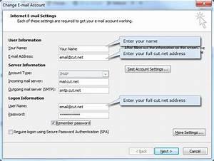 Cut Net Email Setup