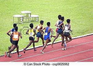 Stock Photo of Mens 3000 Meters Steeplechase - Athletes ...