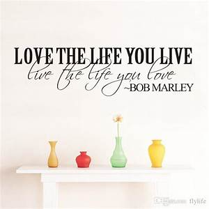 bob marley quote vinyl wall decal inspirational lettering With inspiratinal bob marley wall decals