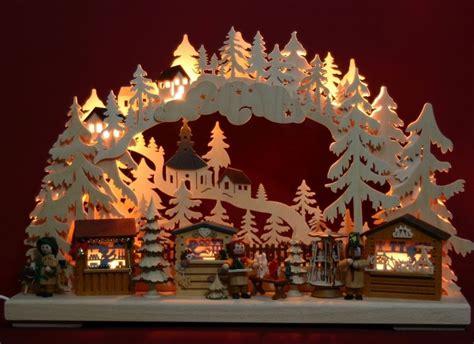 Weihnachtsdeko Holz Erzgebirge by Led 3d Schwibbogen Seiffener Weihnachsmarkt Pyramide
