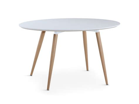 Table Ovale Scandinave Sissi Blanc