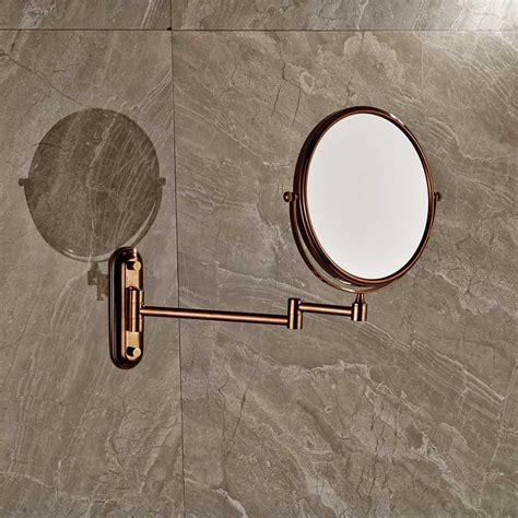Rose Golden Make Up Magnifying Mirror Bathroom Wall
