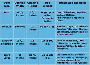 The right size door for your pet dog door for sliding for Dog door size by breed