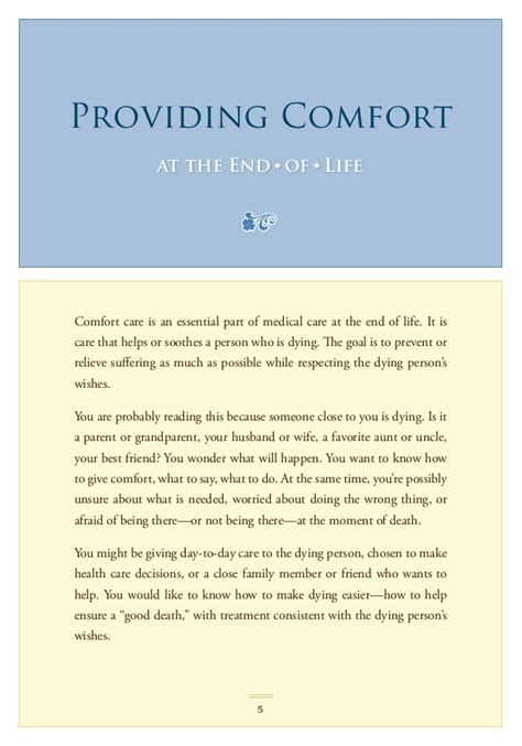 what is comfort care global cures end of helping with comfort