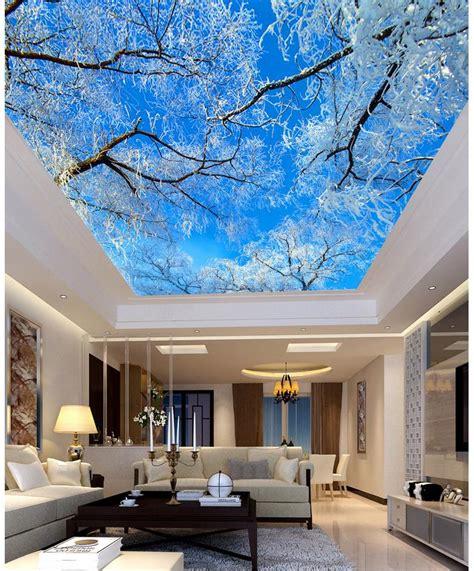 buy blue sky tree ceiling living room tv