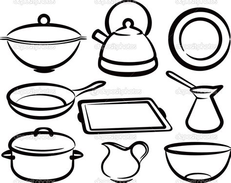 printable coloring cooking utensils coloring pages