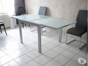 table manger carree metal clasf With salle a manger verre