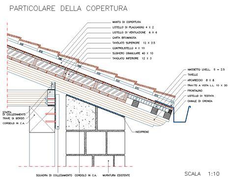 tetto a padiglione dwg particolare tettoia in legno dwg pannelli termoisolanti