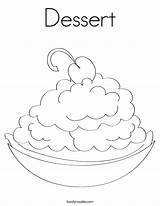 Coloring Dessert Pages Happy Colouring Ice Cream Drink Twistynoodle Cake Cherry Pie Built California Usa Getcoloringpages Designer Rights Noodle Birthday sketch template