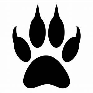 best photos of tiger paw print template tiger paw print With tiger paw template