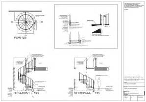 Harmonious Curved Staircase Plans by Spiral Staircase Detail Drawings Autocad On Behance