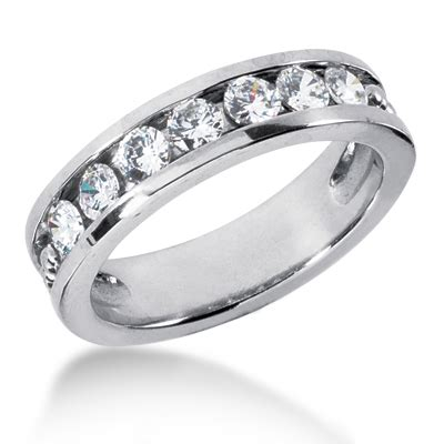 platinum s wedding ring 1 05ct