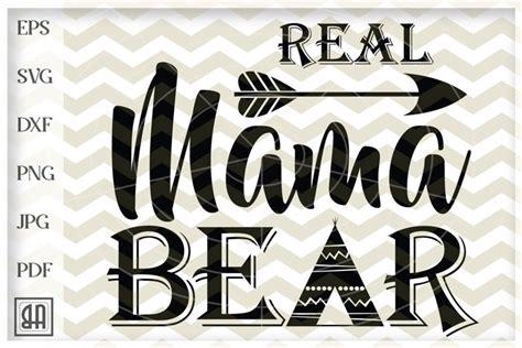 One of a kind mama bear mandala themed cut file clipart design. Mama Bear Mandala Svg For Crafters - Layered SVG Cut File ...