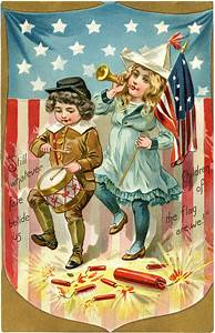 Vintage Patriotic Postcard Image! - The Graphics Fairy