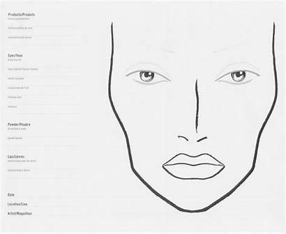 Makeup Face Template Charts Stage Mac Blank