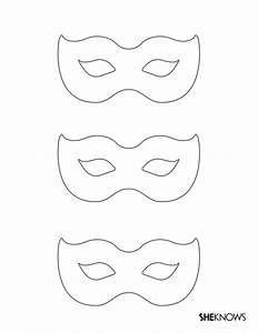 Superhero Outlines Templates Masquerade Masks Free Printable Coloring Pages Baile