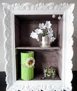 Cheap diy home decor idea decorative cardboard wall shelf