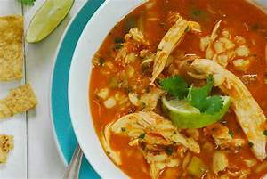 Mexican Chicken and Hominy Soup Relishing It