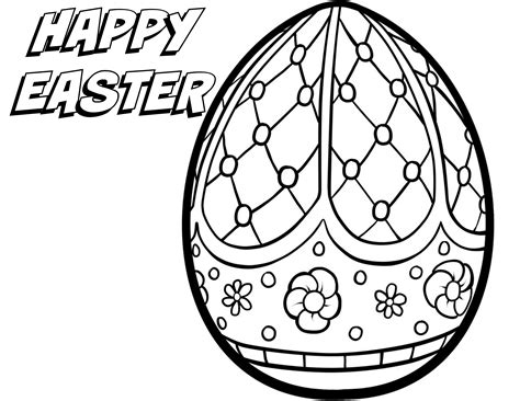 Free Printable Easter Coloring Pages Egg House Page For