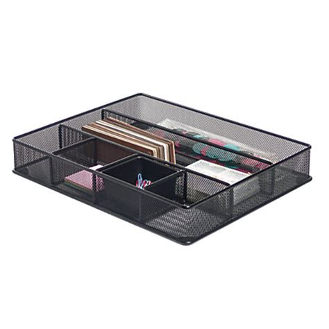 office depot desk drawer organizer brenton studio metro mesh large drawer organizer 2 716 h x