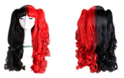 Details About Lolita Harajuku Mix Color Wave Curly Hair