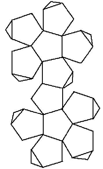 math forum alejandre dodecahedron net paper art