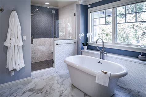 beautiful  tranquil east bay master bathroom remodel