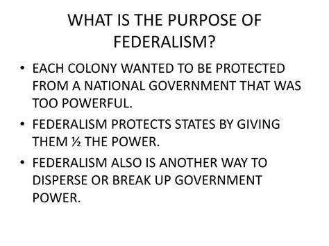 federalism in the us national and state government power ppt