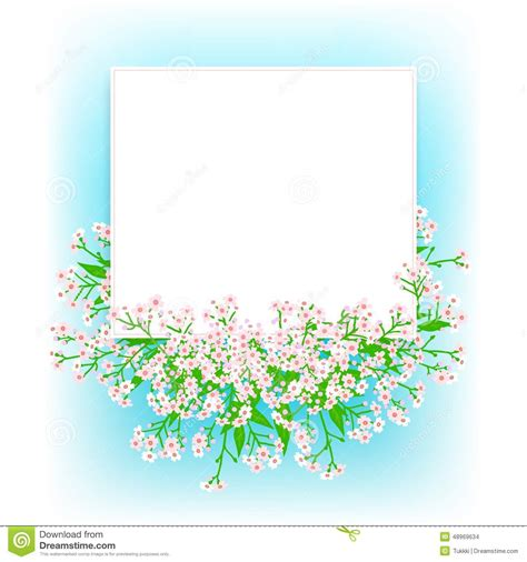 vector card  small pink flowers stock vector image