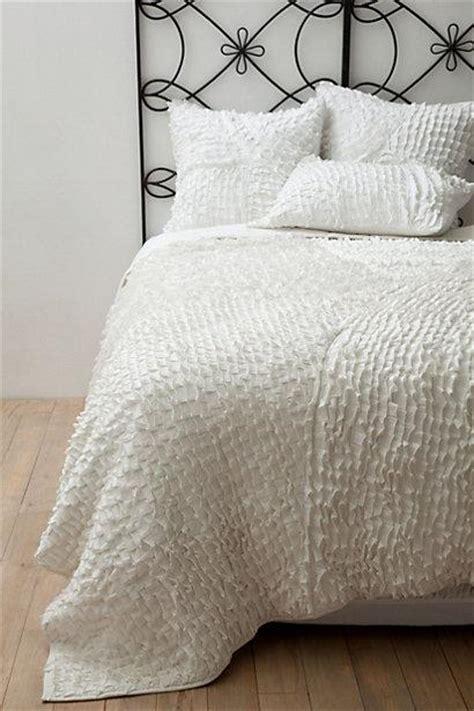contemporary textured white quilt bedding