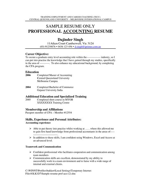 sle experience resume for accountant data center