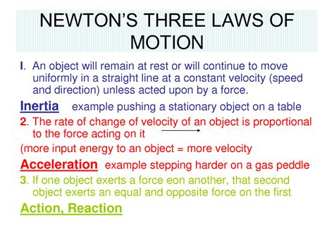 6th Grade Science 4th Six Weeks (wk 4) Newtons 3 Laws Of