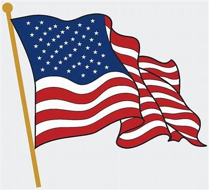 Flag American Clipart Waving Cliparts Vector Web