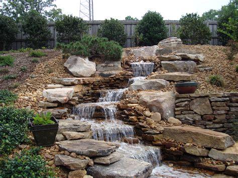 waterfall feature pondless waterfalls a beautiful alternative to ponds backyard blessings