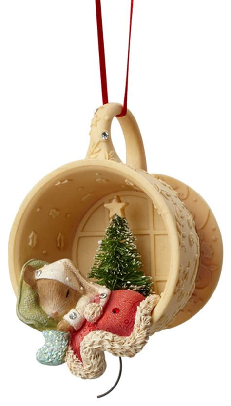 shop houzz enesco heart of christmas mouse sleeping in