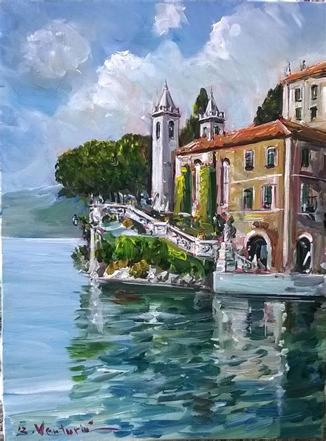 tettamantis gallery dipinti ad olio lago  como lake