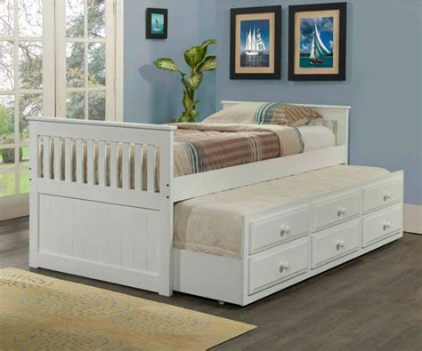 18362 white size trundle bed mission captains trundle bed white bedroom furniture