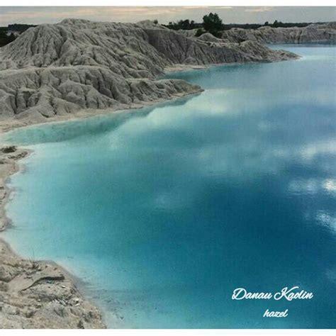 danau kaolin  biru cantik  belitung tempat wisata