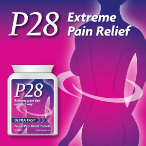 P28 ULTRA FAST PERIOD PAIN RELIEF TABLETS PILLS STOP ...