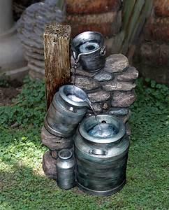 Maulwurfbekämpfung Im Garten : milchkannen brunnen mit beleuchtung in steinoptik 169 99 ~ Michelbontemps.com Haus und Dekorationen