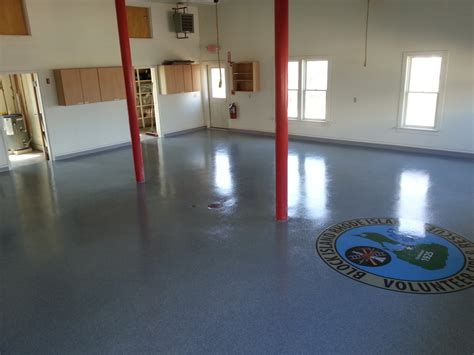 epoxy flooring island epoxy block island fire department block island ri by black bear coatings concrete