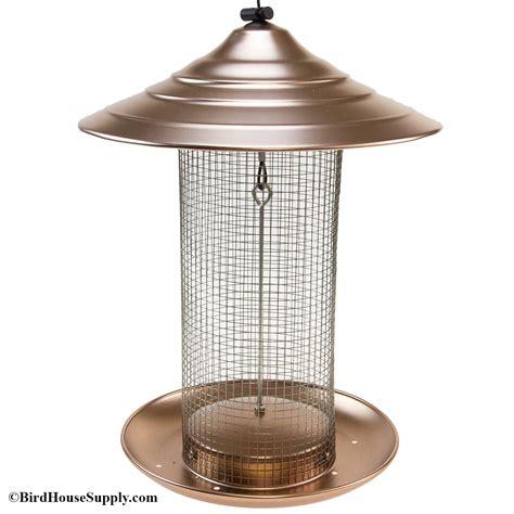 brushed copper woodlink sunflower screen bird feeder