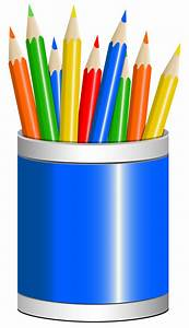 Blue Pencil Cup PNG Clipart Image   Gallery Yopriceville ...